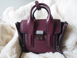 3.1 Phillip Lim Mini Pashli Satchel in Black-Maroon