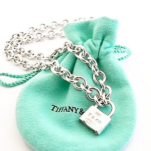 Tiffany & Co. Sterling Silver 1837 Padlock Necklace