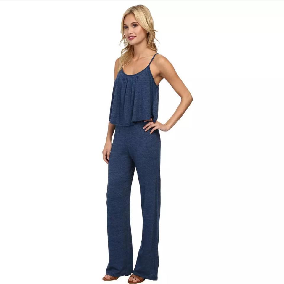 594587375df3 C C California Limoges Blue Tiered Jumper Romper Jumpsuit - Tradesy