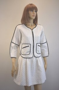 Karen Millen Karen Millen Cotton Blend White Skirt Suit Size 2 On Sale sh