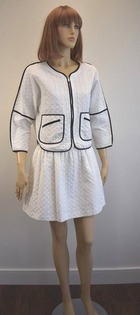 Karen Millen Karen Millen Cotton Blend White Skirt Suit Size 2 On Sale sh Image 2