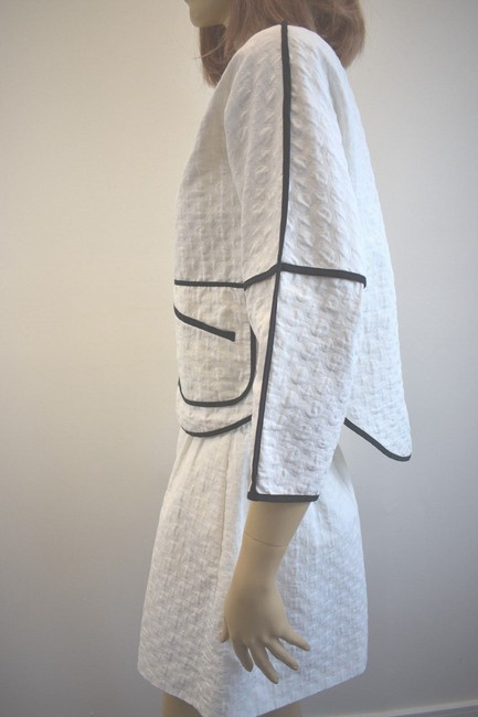 Karen Millen Karen Millen Cotton Blend White Skirt Suit Size 2 On Sale sh Image 4