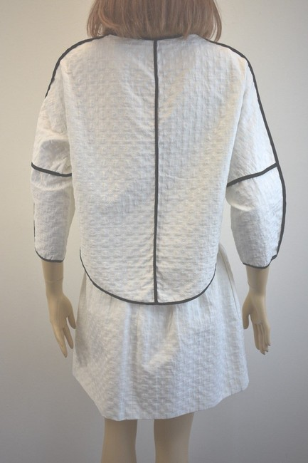 Karen Millen Karen Millen Cotton Blend White Skirt Suit Size 2 On Sale sh Image 5