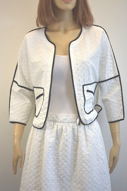 Karen Millen Karen Millen Cotton Blend White Skirt Suit Size 2 On Sale sh Image 6