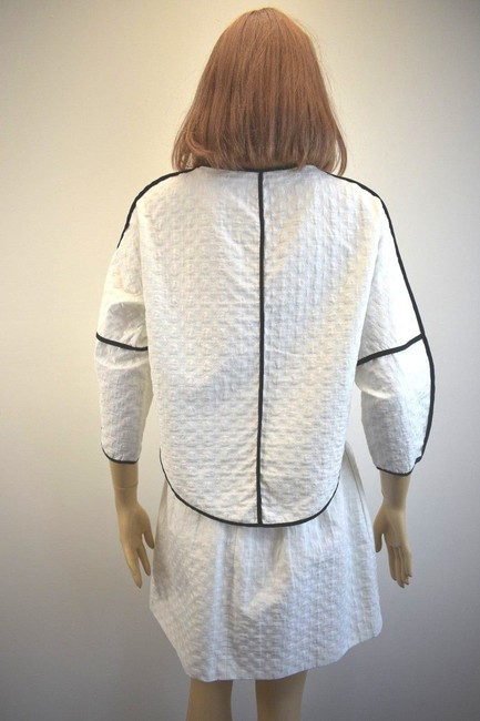 Karen Millen Karen Millen Cotton Blend White Skirt Suit Size 2 On Sale sh Image 9