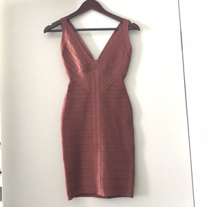 Hervé Leger Fitted Formal Mini Bodycon Dress