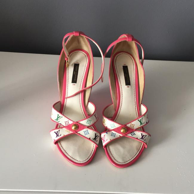 Item - Multi Color Pink Wedges Size US 8 Narrow (Aa, N)