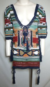 Cleobella Tunic Crochet Hippie Boho Sweater