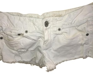 American Eagle Outfitters Cut Off Shorts white