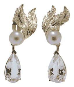 Other MUST SEE- 14k gold 15 cts Morganites &10 mm pearl dangle earrings