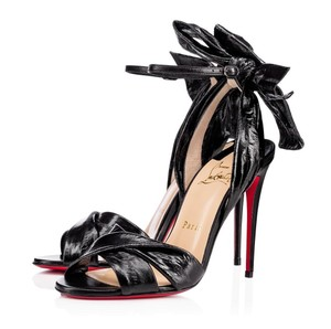 Christian Louboutin Marylineska 100mm Ankle Strap Black Sandals