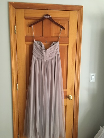 Amsale Latte Tulle Maternity with Spaghetti Strap Halter Top Formal Bridesmaid/Mob Dress Size 8 (M) Image 2