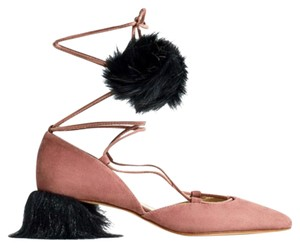 Zara pink and black Flats
