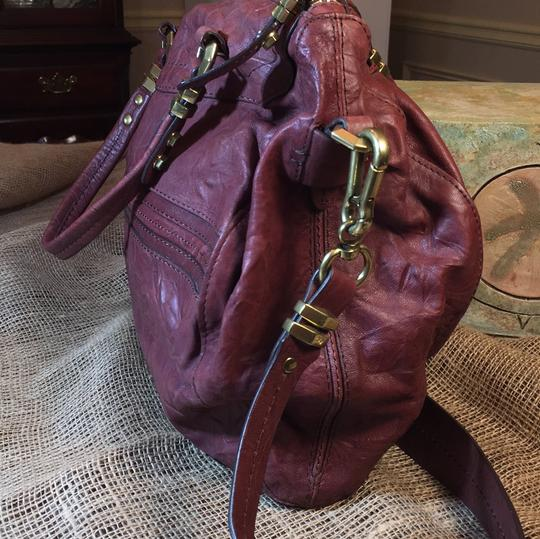 orYANY Satchel in medium burgandy Image 1