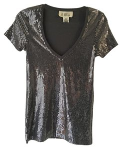 BB Dakota Sequin Top Silver