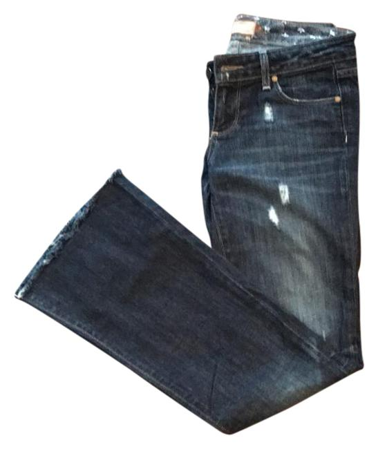 Item - Blue Distressed Laurel Canyon Flare Leg Jeans Size 26 (2, XS)