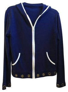 Other Nautical Zip Front Navy Brass Rings White Trim Jacket