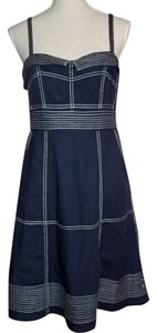 Maeve short dress Navy with White Topstitching on Tradesy