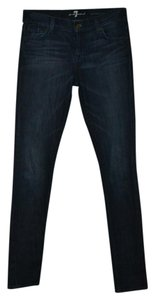 7 For All Mankind 25x32 Roxanne Skinny Jeans-Dark Rinse