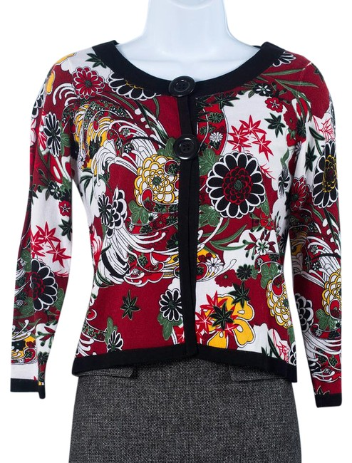 Preload https://img-static.tradesy.com/item/21105299/belldini-blackred-floral-two-button-cardigan-sweaterpullover-size-4-s-0-1-650-650.jpg