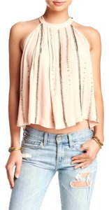 Free People Accent Beading Top Pink
