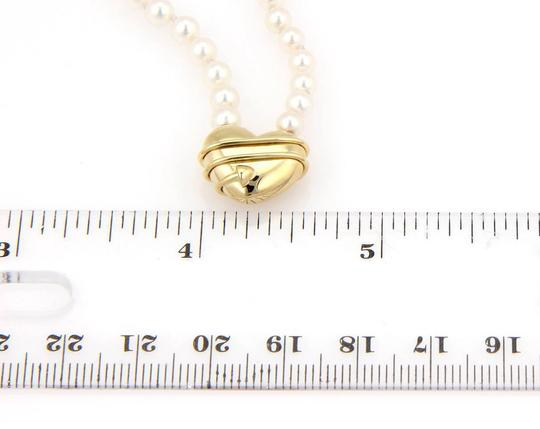 Tiffany & Co. 18kt Yellow Gold Arrow Heart Pendant & Salt Water Pearl Necklace Image 4
