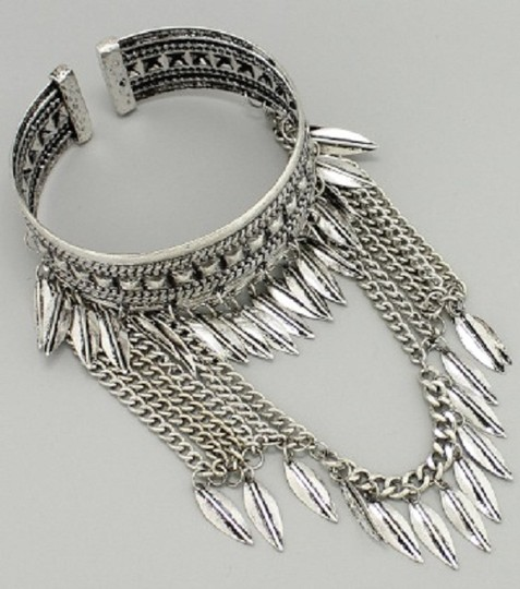 Other Antique Silver Tribal Boho Arm Cuff Bangle Bracelet Image 1