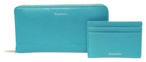 Tiffany & Co. Tiffany Co Matching Long Wallet and Flat Card Case