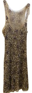 Other Gold Sequin Sleeveless Party Sexy Dress
