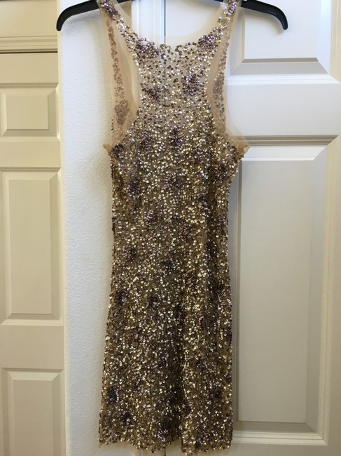 Other Gold Sequin Sleeveless Party Sexy Dress Image 1