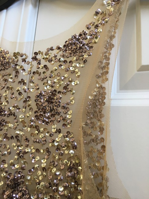 Other Gold Sequin Sleeveless Party Sexy Dress Image 2