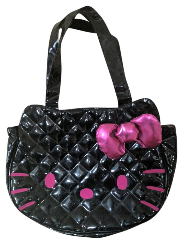 505061ec0eb Loungefly Hello Kitty Black Pink Plastic Shoulder Bag - Tradesy