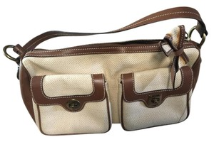 Moschino Satchel in Cream and brown