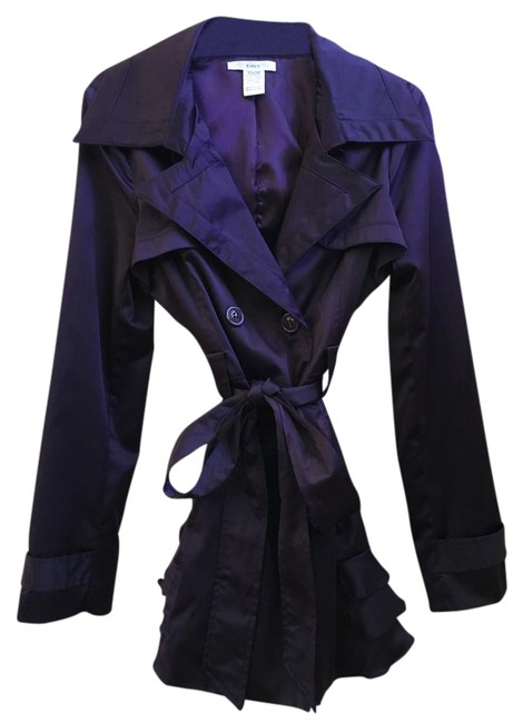 Esley Ruffles Trench Coat Image 0