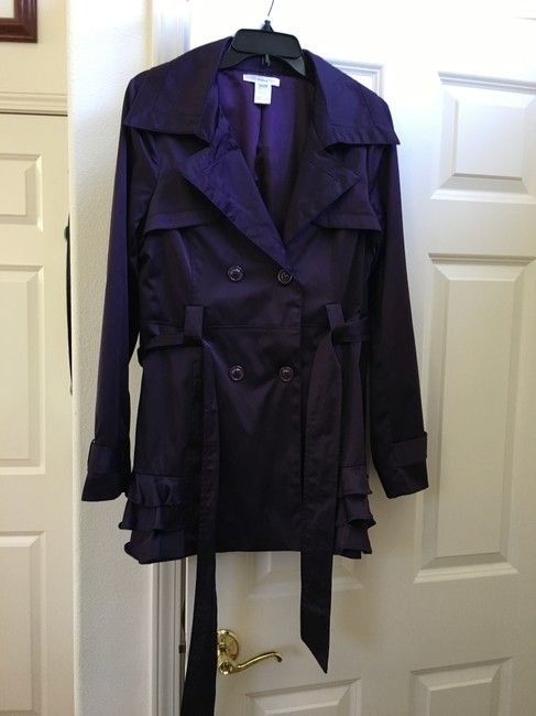 Esley Ruffles Trench Coat Image 3