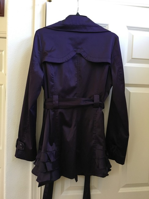 Esley Ruffles Trench Coat Image 6