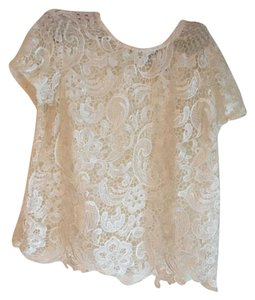 Bisou Bisou Lace Top creme