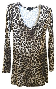 Karen Kane short dress Brown Leopard Leopard Scoop Neck Sexy Party on Tradesy