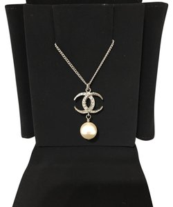Chanel Chanel Cc Crystal Logo Gold Tone Adjustable Necklace