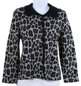 Rafaella Animal Print Cardigan
