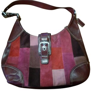 Coach Leather Patchwork Hobo Bag