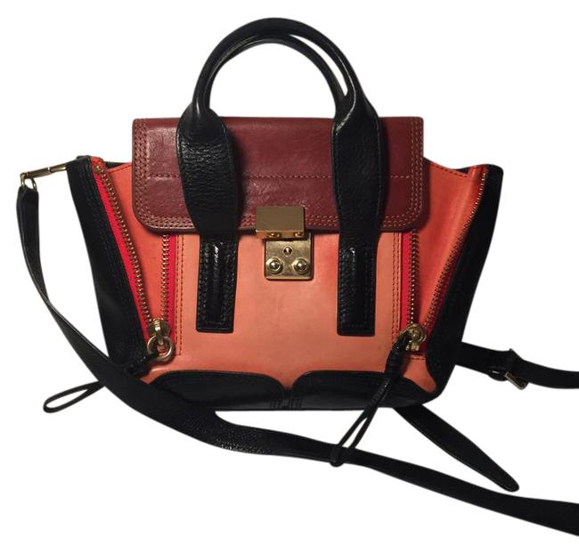 Item - Pashli Mini Satchel Black Brown Salmon Leather Shoulder Bag