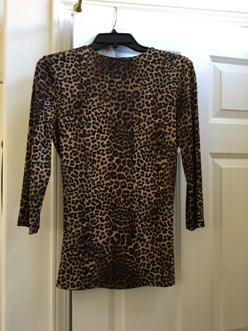 Other Leopard Wrap 3/4 Sleeves Tunic Image 1