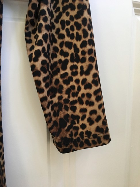 Other Leopard Wrap 3/4 Sleeves Tunic Image 2