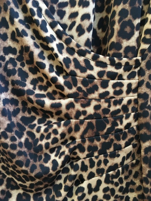 Other Leopard Wrap 3/4 Sleeves Tunic Image 3