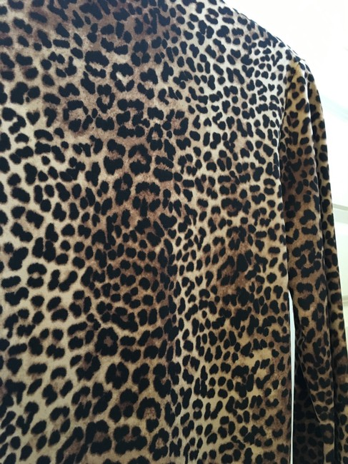 Other Leopard Wrap 3/4 Sleeves Tunic Image 4