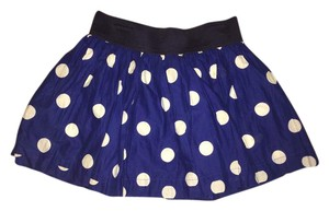 Hollister Summer Polka Dot Mini Skirt Navy Blue