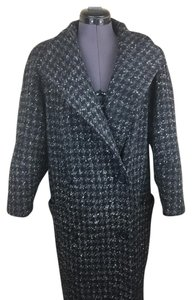 Larry Levine Houndstooth Trench Trench Coat