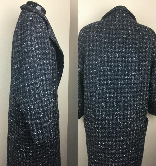 Larry Levine Houndstooth Trench Coat Image 2