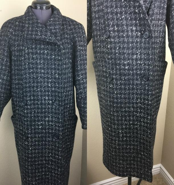 Larry Levine Houndstooth Trench Coat Image 3